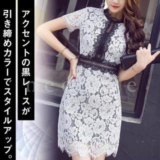 【本日限定セール】DURARS系韓国ファッション♡総レースキャバミニドレス