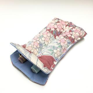 【短軸用】万年筆 ペンケース 2本用 正絹使用(その他)