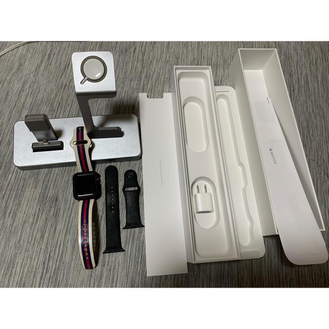 Apple Watch(アップルウォッチ)のUVER様専用Apple Watch2 42mm充電スタンドセット メンズの時計(腕時計(デジタル))の商品写真