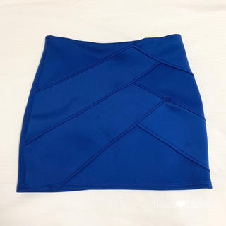 A.P.C - アメリカ購入 ❤︎ ストレッチ タイト スカート ミニスカート  ブルー