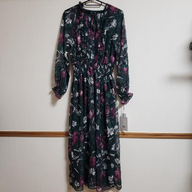 Ameri VINTAGE(アメリヴィンテージ)の新品 アメリヴィンテージ 花柄 ロングワンピース レディースのワンピース(ロングワンピース/マキシワンピース)の商品写真