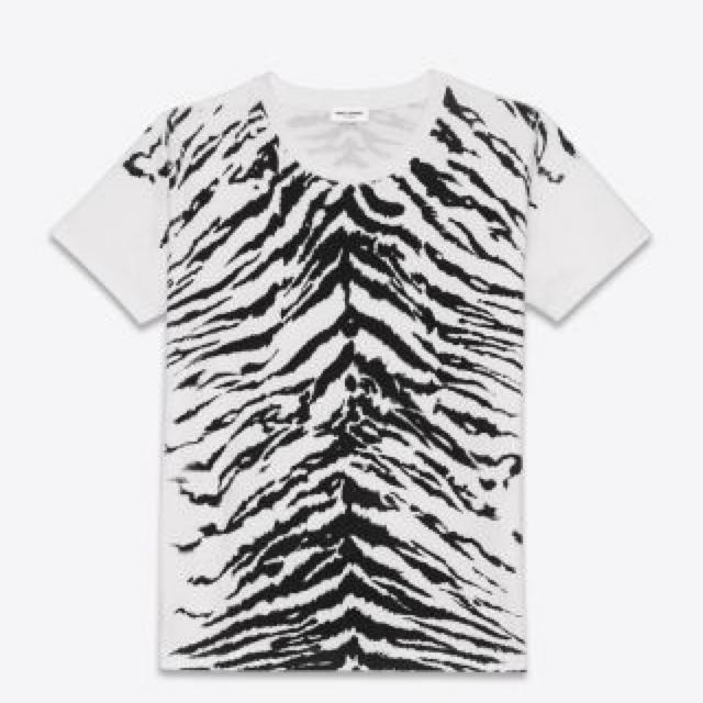 Saint Laurent(サンローラン)のエディ期 14ss saint laurent paris ゼブラ Tシャツ メンズのトップス(Tシャツ/カットソー(半袖/袖なし))の商品写真