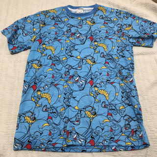 Disney - Mサイズ 総柄 Tシャツ ジーニー アラジン