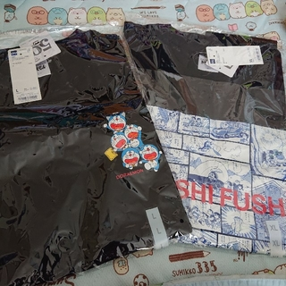 GU - GU ジーユー ドラえもん 新品 メンズ XL L Tシャツ 2枚