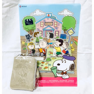 SNOOPY - SNOOPY A4クリアファイル&2wayパスケース セット