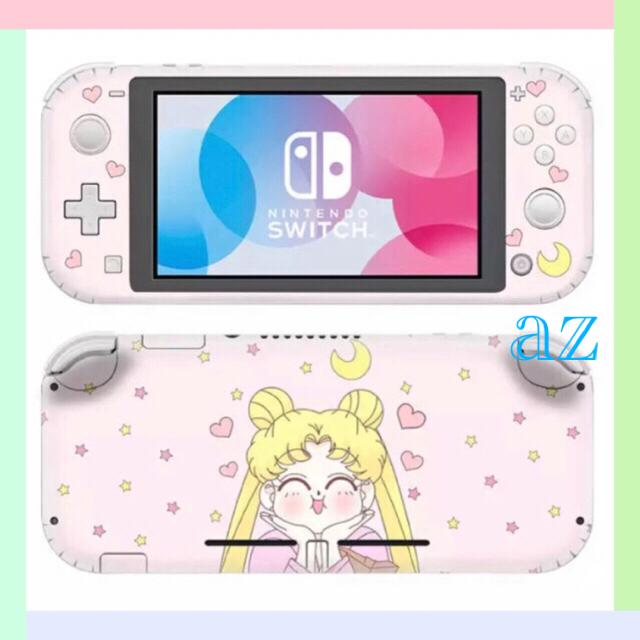 Nintendo Switch(ニンテンドースイッチ)の◎SALE◎ セーラームーン⑦ 任天堂SwitchLite 保護スキンシール エンタメ/ホビーのゲームソフト/ゲーム機本体(その他)の商品写真