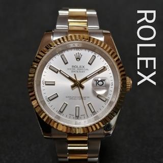ROLEX - ROLEX★デイトジャストⅡ♦極美品♪自動巻き♥OH済♬稼働品メンズ腕時計◆
