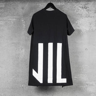 ユリウス(JULIUS)のNILos ニルズ Back 家紋 T-Shirt tシャツ 黒(Tシャツ/カットソー(半袖/袖なし))