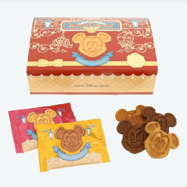 Disney(ディズニー)の3箱 ミッキー ワッフル クッキー TDL  TDR エンタメ/ホビーのおもちゃ/ぬいぐるみ(キャラクターグッズ)の商品写真