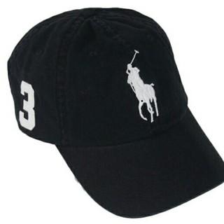 POLO RALPH LAUREN - 新品タグ付 ポロ・ラルフローレン 帽子 キャップ ブラック 刺繍白 ビッグポニー