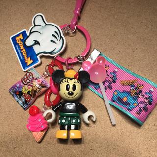 Disney - ディズニー ミニー ハンドメイドキーホルダー