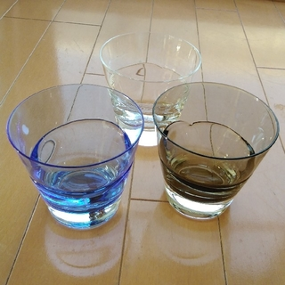 スガハラ(Sghr)のスガハラ グラス デュオオールド ブルー カーボン クリア 3点セット(グラス/カップ)