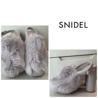 snidel - 美品 スナイデル グレーフェイクファー サンダル