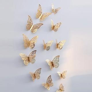 フランフラン(Francfranc)のバタフライ 蝶  ゴールド  ウォールデコレーション 12枚 結婚式 誕生日(その他)