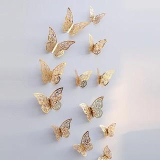 Francfranc - バタフライ 蝶  ゴールド  ウォールデコレーション 12枚 結婚式 誕生日
