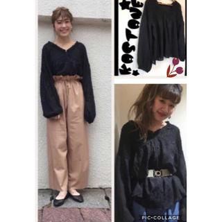 Kastane - kastane★2way刺繍シャーリングプルオーバー★1点のみ