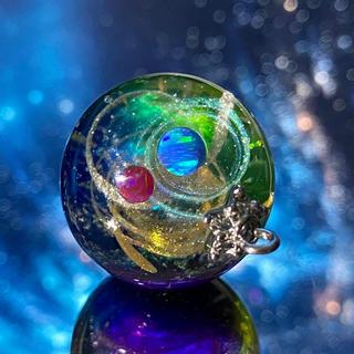 IORI resin 宇宙玉レジン〜惑星25 レジンネックレス