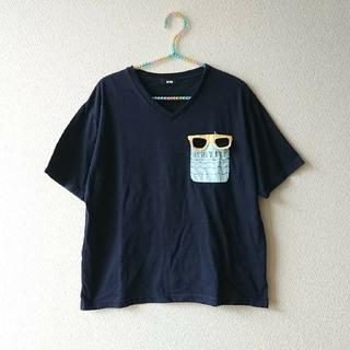 ロデオクラウンズワイドボウル(RODEO CROWNS WIDE BOWL)のRCWB メガネTシャツ Vネック Free(Tシャツ(半袖/袖なし))