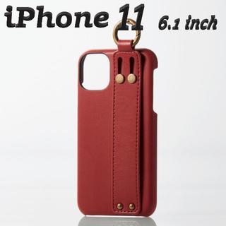 エレコム(ELECOM)のiPhone 11ケース ソフトレザー オープン イタリアン (ロッソ)(iPhoneケース)