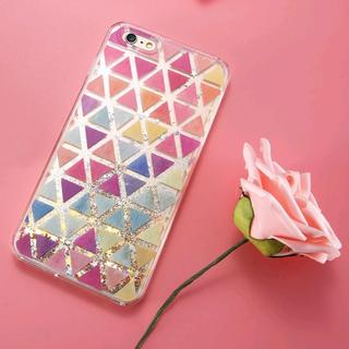 iPhone7 iPhone8 綺麗 キラキラ 砂金 が流れる ハードケース(iPhoneケース)