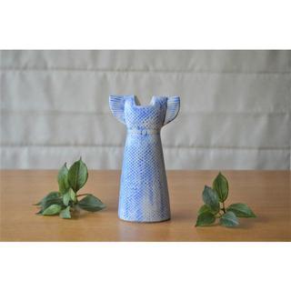 リサラーソン(Lisa Larson)の希少●リサラーソン 廃盤 花器 ワードローブ 旧仕様ドレス 花瓶 ベース(花瓶)