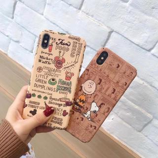 パークフード柄  ❤️ スヌーピー iPhoneケース (iPhoneケース)