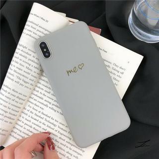 【iPhone7/8 グレー】iPhoneケース TPU シンプル(iPhoneケース)