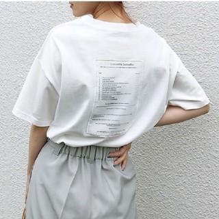ZARA - バック文字 Tシャツ 【4color・3size】