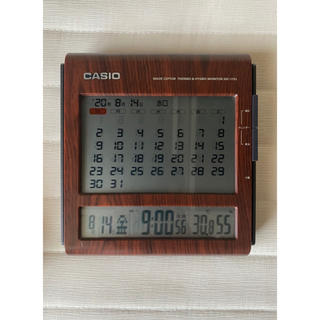 カシオ(CASIO)のCASIO 置時計 ブラウン色(置時計)