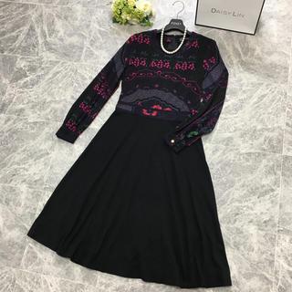 レオナール(LEONARD)の美品 レオナール  LEONARD 最高級シルク ロング ドレス ワンピース(ロングワンピース/マキシワンピース)