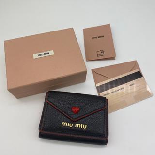 miumiu - ミュウミュウ マドラス 折り財布 miu miu 新品 財布 ブラック