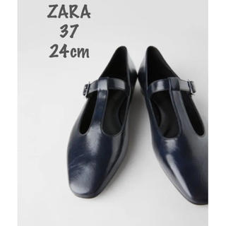 ZARA - 【新品・未使用】ZARA Tストラップ フラット シューズ 24cm