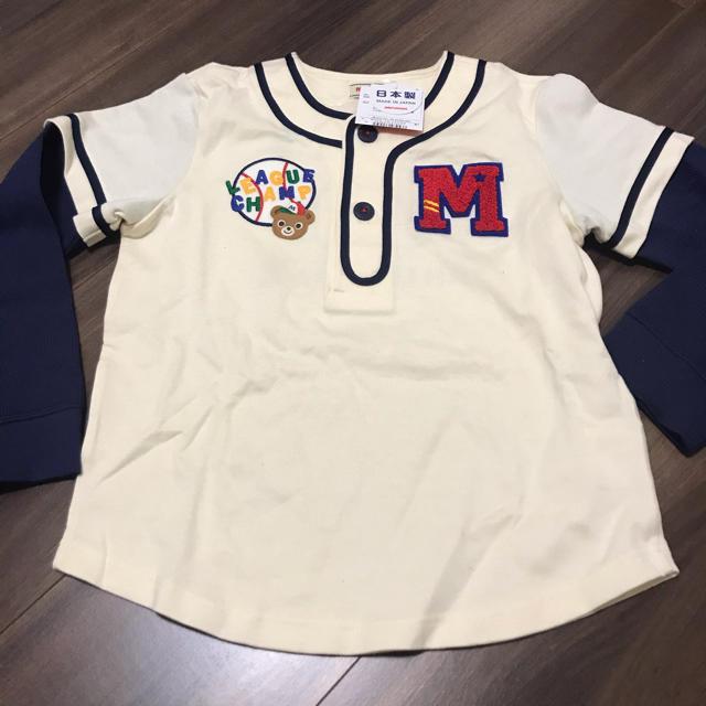 mikihouse(ミキハウス)のミキハウス  ダブルビー  ロンT 120cm ベースボール キッズ/ベビー/マタニティのキッズ服男の子用(90cm~)(Tシャツ/カットソー)の商品写真