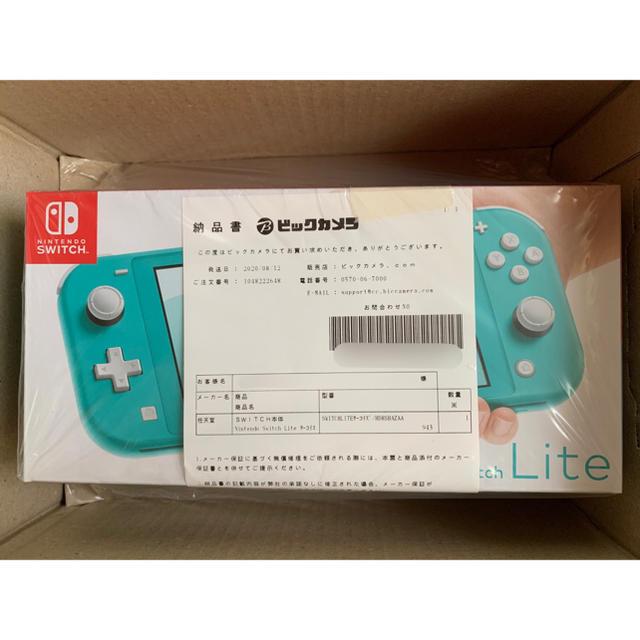 Nintendo Switch Lite ターコイズ 任天堂 スイッチライト エンタメ/ホビーのゲームソフト/ゲーム機本体(携帯用ゲーム機本体)の商品写真