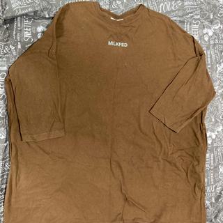 ミルクフェド(MILKFED.)のMLLKFED   七分袖ワンピース型ロンT(Tシャツ(長袖/七分))