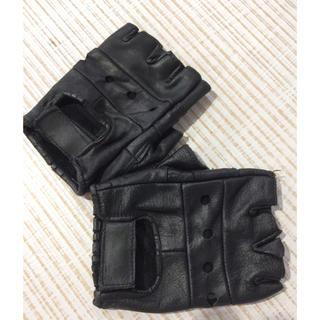 ハーレーダビッドソン(Harley Davidson)のフィンガーレス レザー グローブ 黒 フリー(手袋)