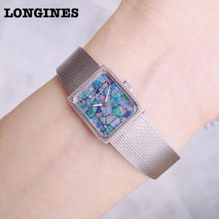 LONGINES - ロンジン − LONGINES 手巻・薄型・ニ針 オパール文字盤 宝飾腕時計