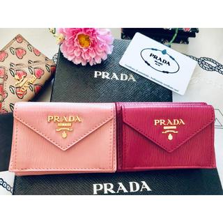 PRADA - ★PRADA★1MH021/極ミニ財布「3折」: IBISCOハイビスカスピンク