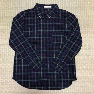 ペルルペッシュ(Perle Peche)のペペルペッシュ  チェックシャツ(シャツ/ブラウス(長袖/七分))