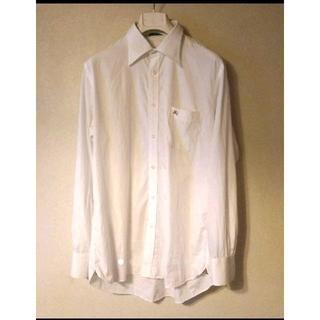 BURBERRY - バーバリー ホワイトシャツ ワイシャツ メンズ L アイロン不要☆