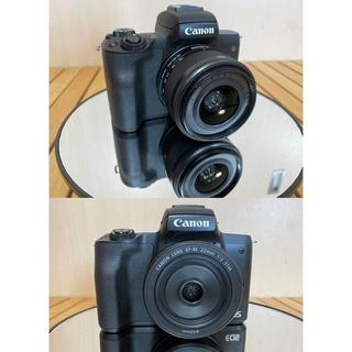 Canon - Canon EOS kiss M★ダブルレンズキット +バッテリー2個 キャノン