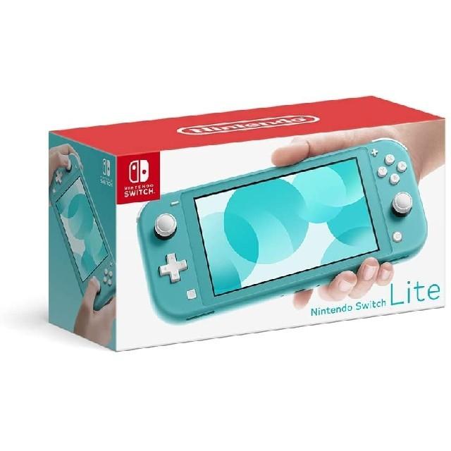 Nintendo Switch(ニンテンドースイッチ)の新品未開封 Nintendo Switch Lite ターコイズ 店舗印なし エンタメ/ホビーのゲームソフト/ゲーム機本体(携帯用ゲーム機本体)の商品写真