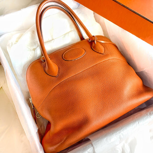 Hermes(エルメス)のカヌレ様専用!エルメス ボリード31 トリヨン オレンジ レディースのバッグ(ハンドバッグ)の商品写真