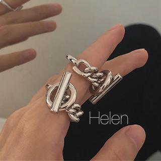 トゥデイフル(TODAYFUL)のsilver chain ring(リング(指輪))