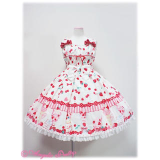 Angelic Pretty - Strawberry Parlour Shirring JSK