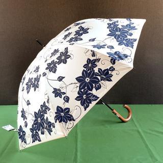 和風日傘 鉄線柄 晴雨兼用 UVコート加工 未使用新品