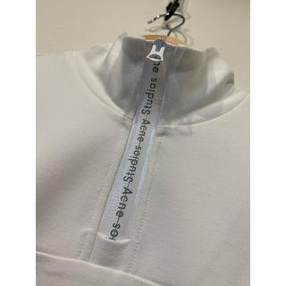 アクネ(ACNE)の【新品】Acne studious トップス Tシャツ ホワイト(Tシャツ/カットソー(七分/長袖))