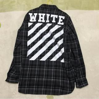 オフホワイト(OFF-WHITE)のoff-white タータンチェックシャツ(シャツ)