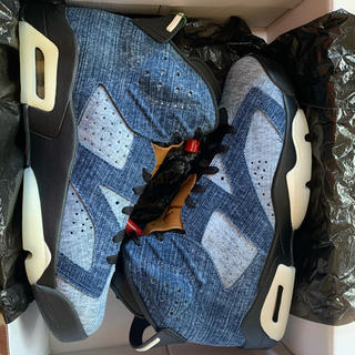 NIKE - 27.0cm air jordan 6 retero washed denim