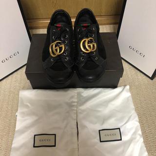 Gucci - GUCCI グッチ レザースニーカー シェリーライン GG
